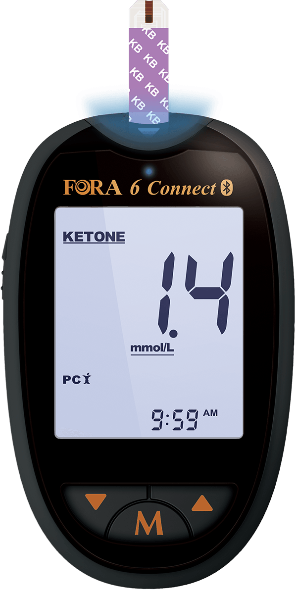Fora 6 Connect zur Ketone-Messung